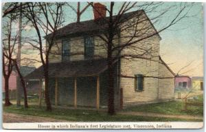 Vincennes Indiana - House where Legislature first met - Hoosier Series