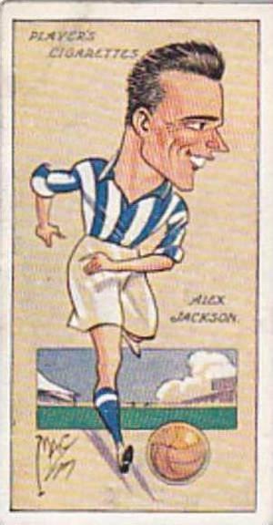Player Vintage Cigarette Card Football Caricatures By Mac 1927 No 16 Alex Jac...