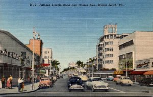 Florida Miami Beach View Of Lincoln Road and Collins Avenue Curteich