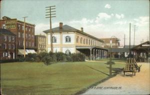 Huntington PA RR Train Depot Station c1910 Postcard