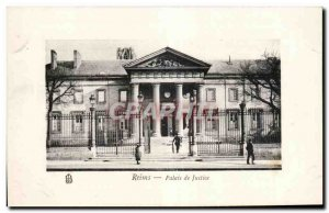 Old Postcard Reims Courthouse