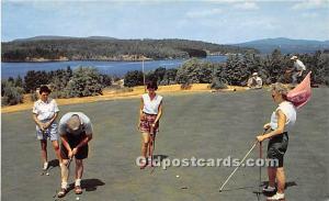 Old Vintage Golf Postcard Post Card Golfing at Tupper Lake Adirondack State P...