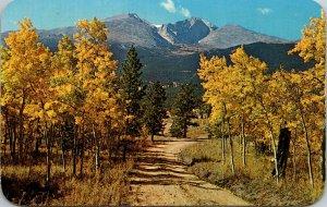 Longs Peak Estes Park Colorado Rocky Mountain National Park Yellow Leaves Trees
