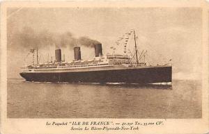 S.S. Ile De France Passenger Ship
