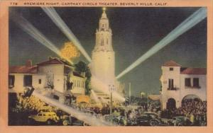 Premiere Night Carthay Circle Theater Beverly Hills California