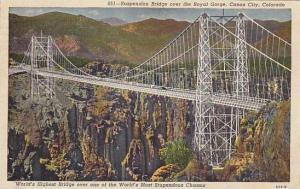 Suspension Bridge over the Royal Gorge, Canon City, Colorado, PU-1951