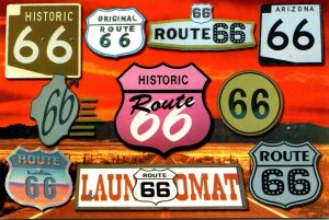 Route 66 Collection Of Road Signs