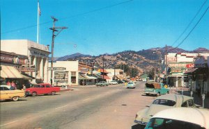 Calistoga CA Bank of America Storefronts Truck Old Cars Nappa Valley Postcard