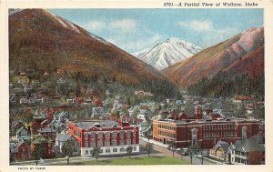 G17/ Wallace Idaho Postcard c1940s Partial View Homes Stores