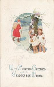 With Christmas Greetings and Season's Best Wishes - Santa Clause - DB