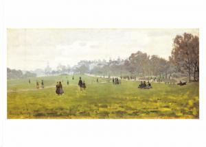 Postcard Art Green Park, London (c1871) by Claude-Oscar Monet MU2045 #2754