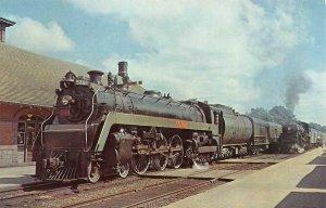 CANADIAN NATIONAL 5702 London-Hamilton Train Guelph, ON Railroad 1957 Postcard