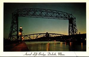 Minnesota Duluth Aerial Lift Bridge Night View