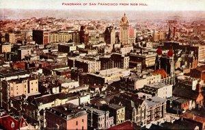 California San Francisco Panorama From Nob Hill