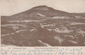 CHATTANOOGA, Tennessee, PU-1907; Winter Scene from Boynton Park