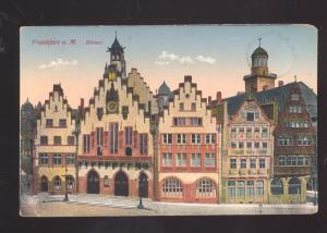 FRANKFURT A.M. GERMANY ROMER GERMAN ANTIQUE VINTAGE POSTCARD