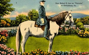 Gen. Robert E. Lee on Traveler  at Gettysburg - Confederate