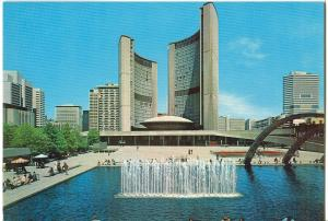 The Spectacular Reflecting Pool, Toronto City Hall, Ontario, Canada, 1970s