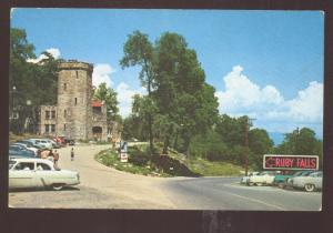 CHATTANOOGA TENNESSEE LOOKOUT MOUNTAIN ENTRANCE OLD CARS VINTAGE POSTCARD