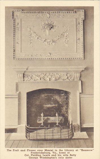 Virginia Fredericksburg The Fruit And Flower Over Mantel In the Library At Ke...