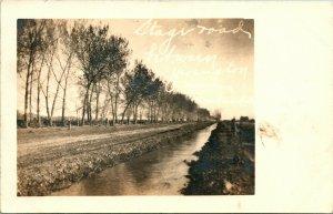 Vtg Postcard 1907 RPPC Stage Road Between Yerington and Wabash Nevada