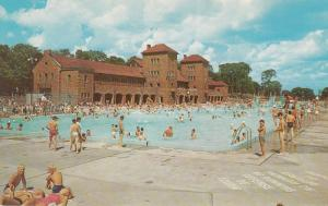 MONTREAL, Quebec, Canada, 1940-1960s; St. Helen's Island Swimming Pool
