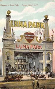 Amusement Park Postcard Post Card Entrance to Luna Park Coney Island, New Yor...