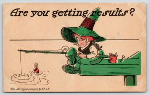 Salesman Comic~Are You Getting Results~Redhead Bumpkin Fishes With Bobber~EB&E
