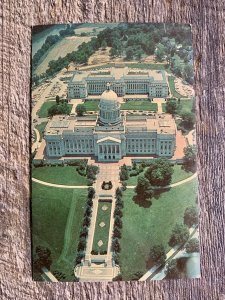 VTG Chrome Bird's Eye Aerial View Of State Capitol And Annex Frankfort Kentucky.