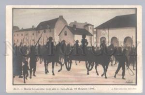 097647 FRENCH REVOLUTION COMMUNE silhouette Marie-Antoinette
