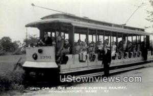 Real Photo, Seashore Electric Railway Kennebunk Port ME Unused