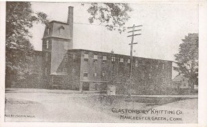 Glastonbury Knitting Co. Manchester Green, Connecticut, Early Postcard, Unused