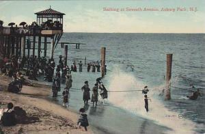 Atlantic City , New Jersey , 00-10s ;  Bathing at seventh avenue