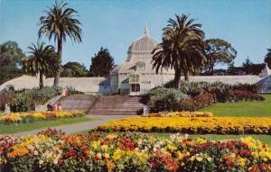 California San Francisco Conservatory Of Flowers Golden Gate Bridge