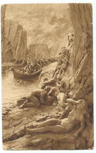 Divina Commedia, Inferno, sculture di D. MASTROIANNI, early 1900s Postcard