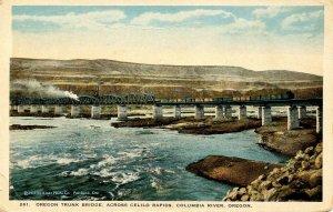 OR - Columbia River, Celilo Rapids. Oregon Trunk Bridge