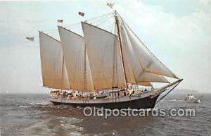 Windjammer Victory Chimes Maine Coast, Capt Boyd Guild Ship Postcard Post Car...