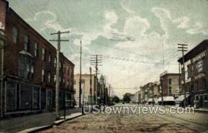 Main Street Hornellsville NY 1908 Stamp Missing