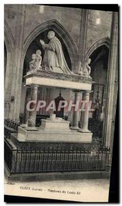 Postcard Old Clery Tomb of Louis XI