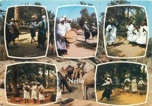 Africa Tunisia Nefta postcard scenes multiview oasis natives