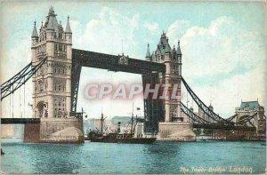 Old Postcard The Tower Bridge London Boat