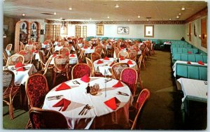 Indianapolis IN Postcard HONG KONG INN Chinese Restaurant Franklin Gables c1960s