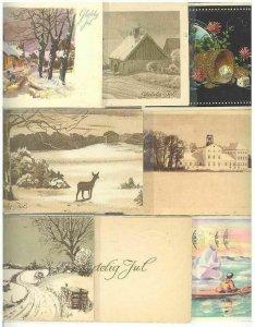 pc794 postcard Denmark Christmas Glaedelig Jul EIGHT #6