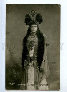 216108 Rose CARON French OPERA Singer SALAMMBO Vintage PHOTO