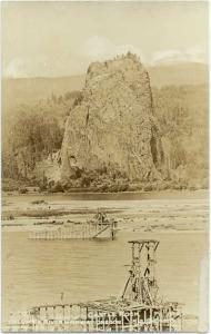 RP pc of Castle Rock along Columbia River Highway Oregon OR
