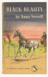 Black Beauty Anna Sewell 1954 Puffin Story Book Postcard