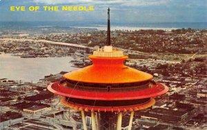 SPACE NEEDLE Eye of the Needle SEATTLE, WA Lake Union c1960s Vintage Postcard