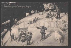 115262 Memory of discovery of NORTH POLE US FLAG VINTAGE PC