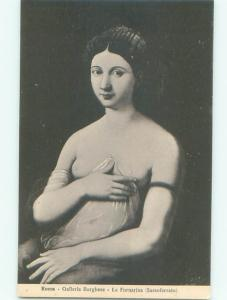 foreign c1910 Risque TOPLESS WOMAN IN ROME AC2528