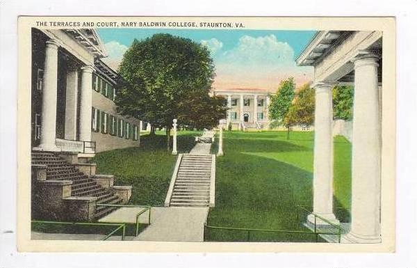 The Terraces & Court, Mary Baldwin College, Staunton,Virginia, 1936